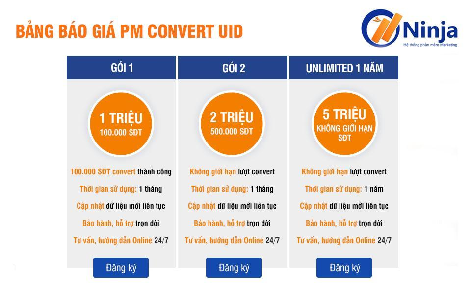 bảng giá convert uid