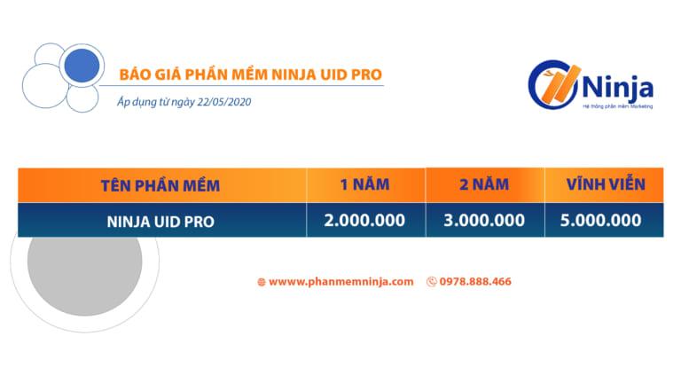 bảng giá phần mềm ninja uid