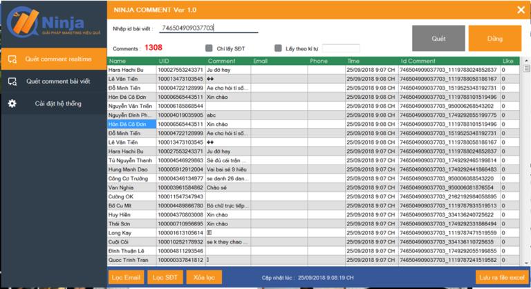 Chạy quét comment theo thời gian thực với phần mềm quét comment tự động
