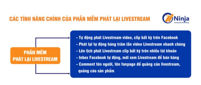 Tính năng của phần mềm phát lại livestream tự động