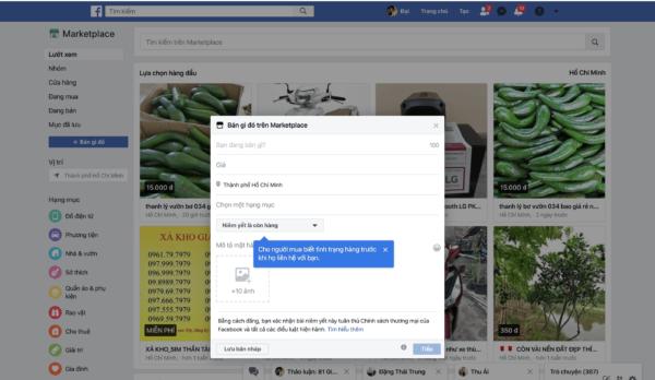 Cách bán hàng trên Marketplace Facebook bằng phần mềm