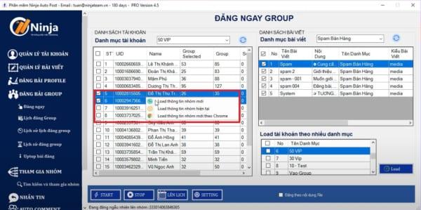 Tool auto post group facebook cập nhật